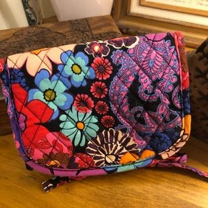 Vera Bradley Folding Cosmetic Makeup Bag